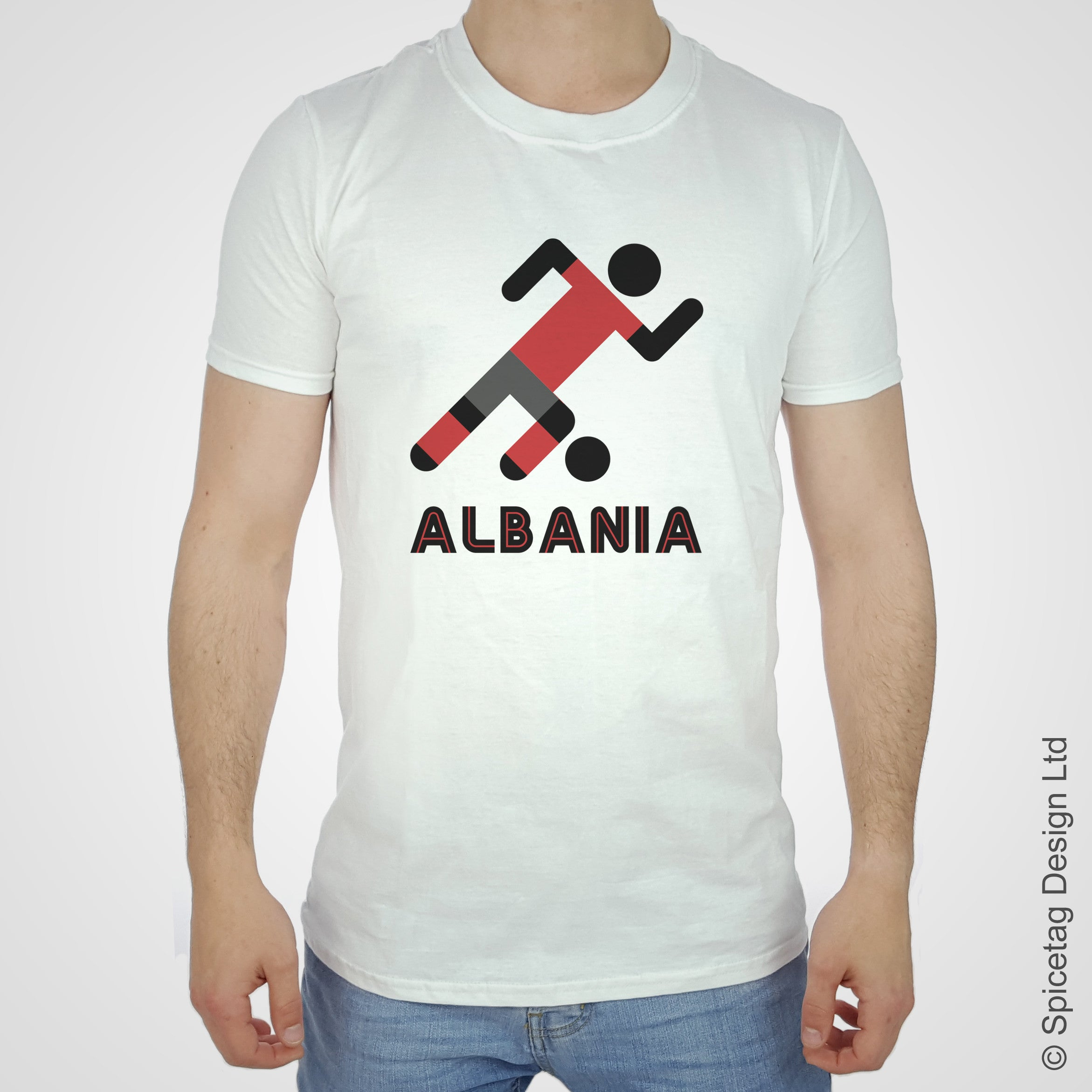 Albania Retro Football T-shirt