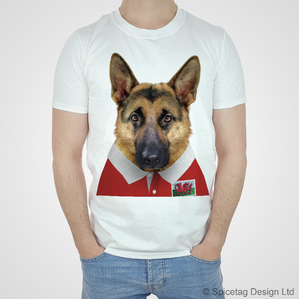 Wales Rugby Alsatian T-shirt