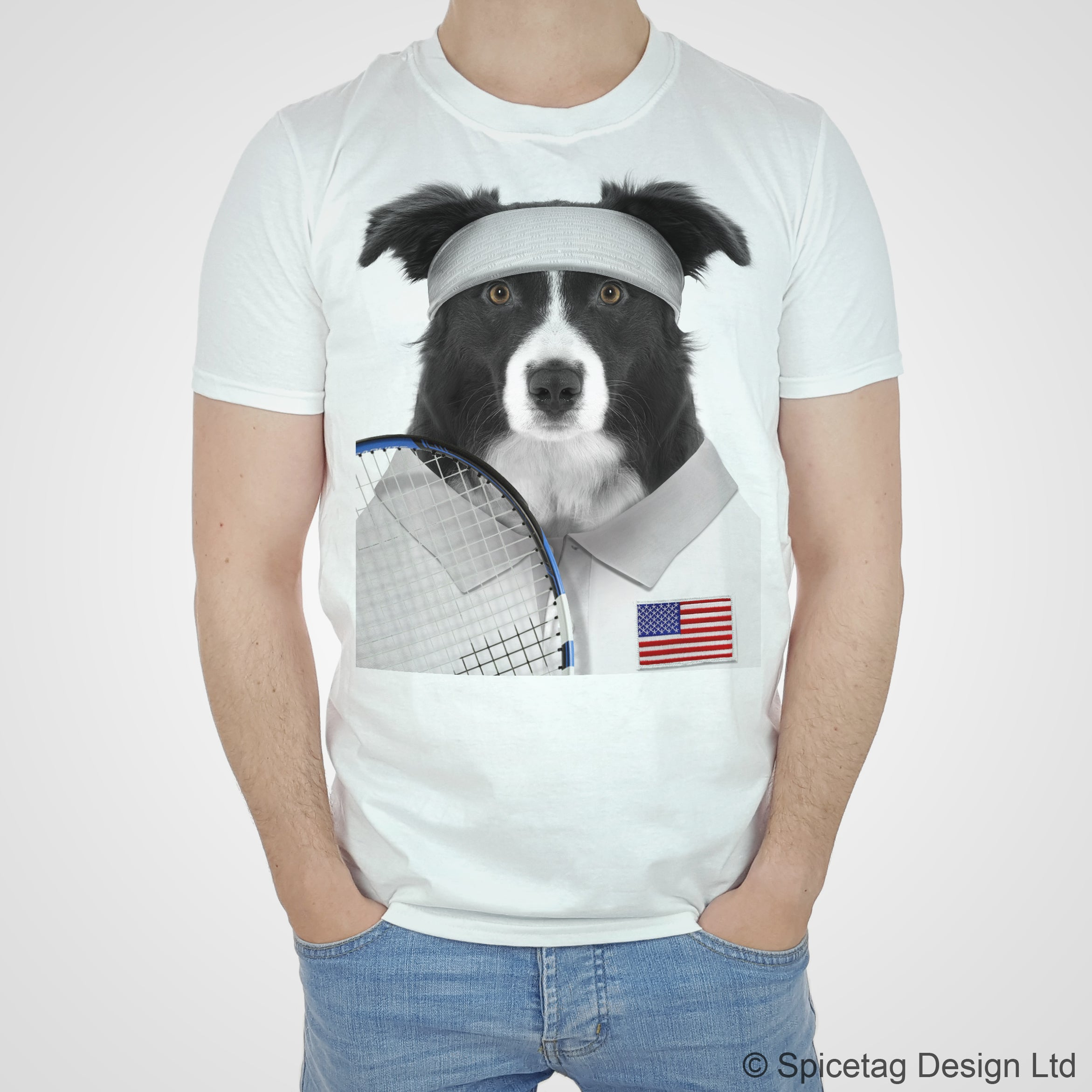 US Tennis Collie T-shirt