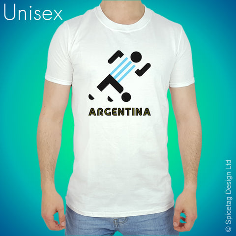 Argentina Retro Football T-shirt