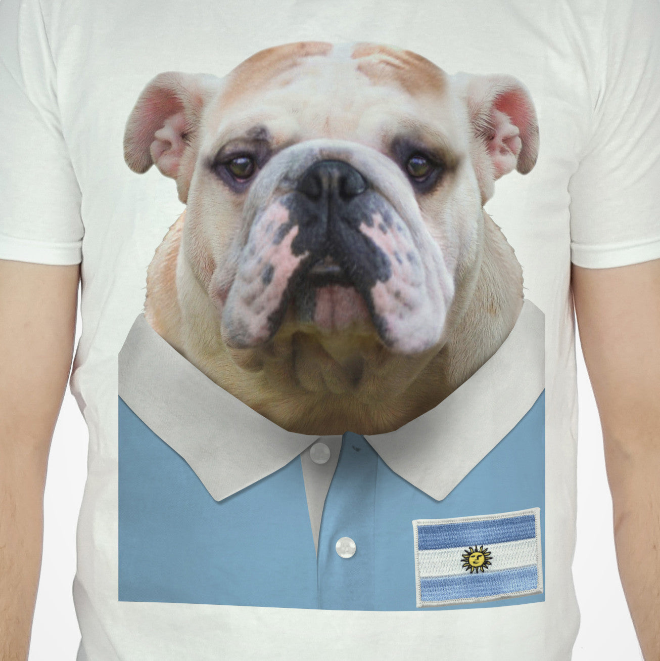 Argentina Rugby Bulldog T-shirt