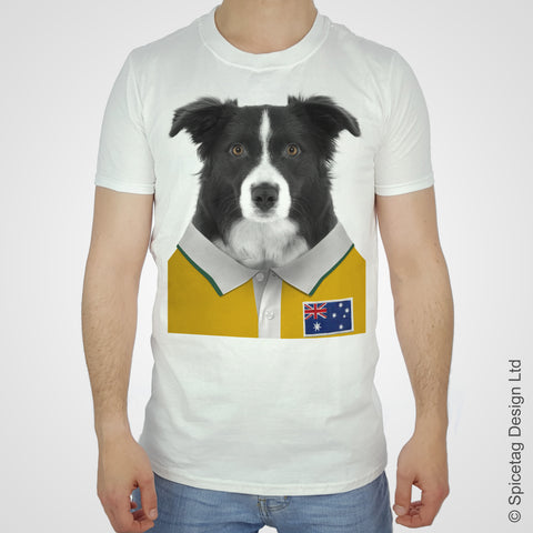Australia Rugby Border Collie T-shirt