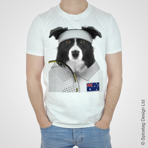 Australia Tennis Collie T-shirt