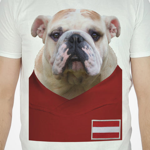 Austria Football Bulldog T-shirt