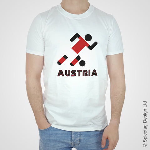 Austria Retro Football T-shirt