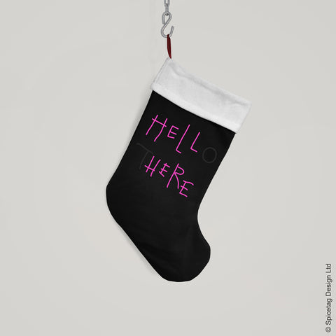 Hello There Christmas Stocking