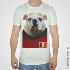 Belgium Football Bulldog T-shirt