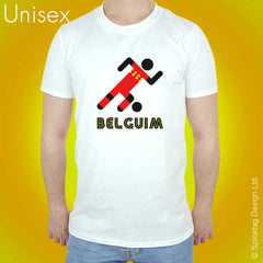 Belgium Retro Football T-shirt