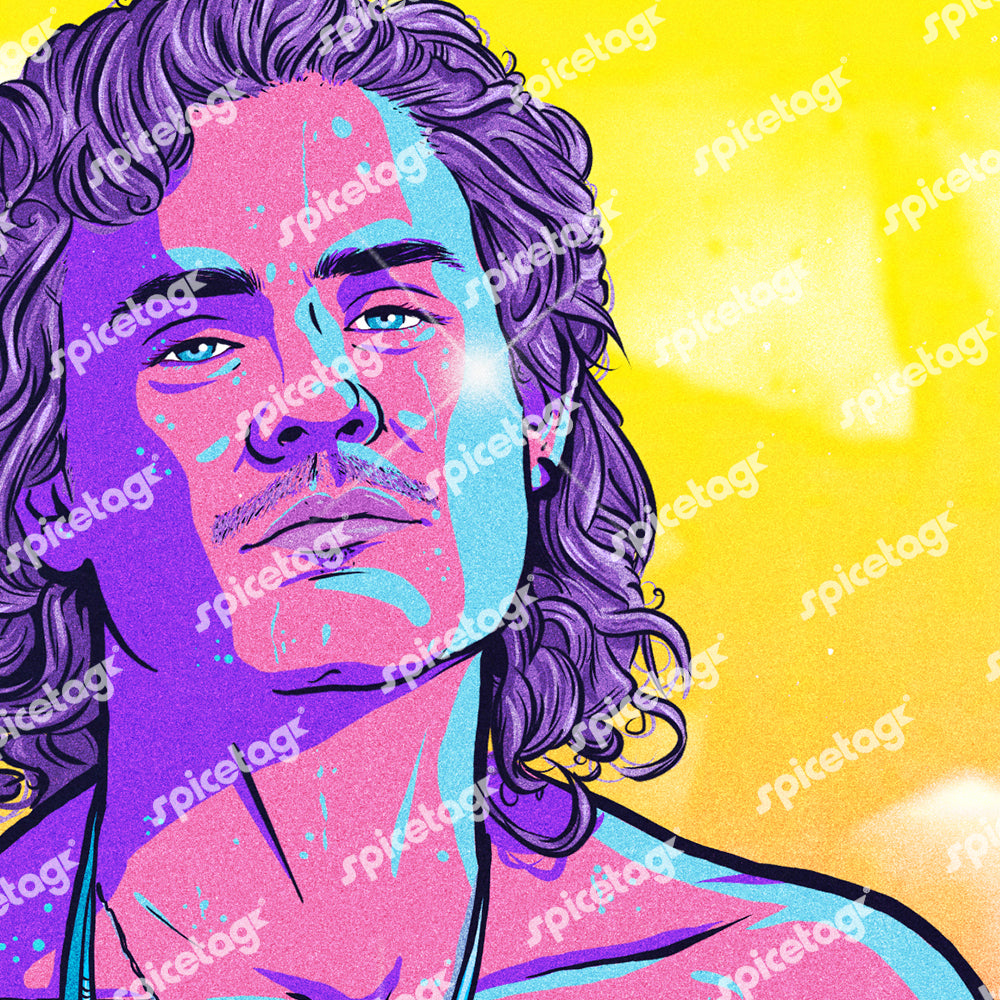 Billy 80's Neon Art Print