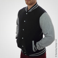 Black & Heather Grey Varsity Jacket