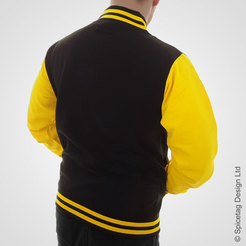 Black and Yellow Varsity Jacket
