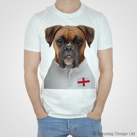 England Rugby Boxer Dog T-shirt