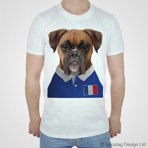 France Rugby Boxer Dog T-shirt