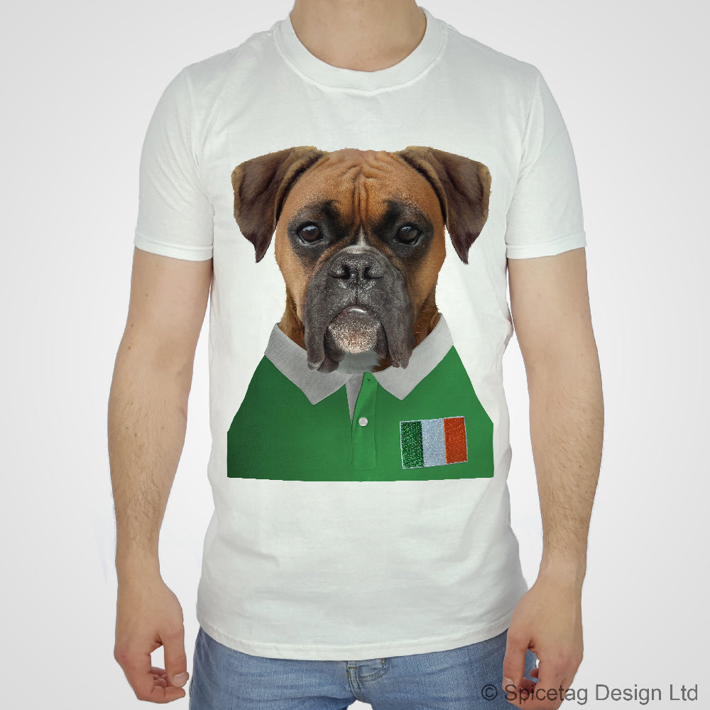 Ireland Rugby Boxer Dog T-shirt