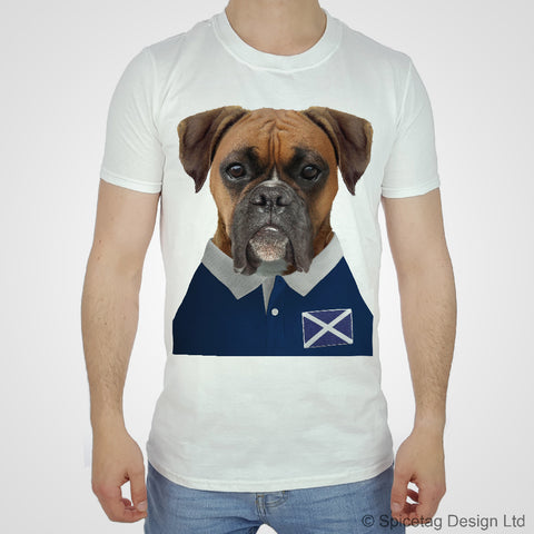 Scotland Rugby Boxer Dog T-shirt