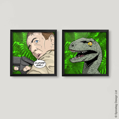 Clever Girl Pop Art Square Print Set