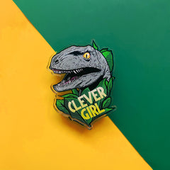 Clever Girl Pin Badge