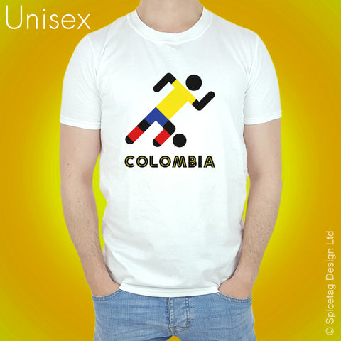 Colombia Retro Football T-shirt