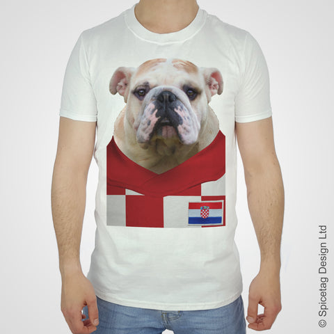 Croatia Football Bulldog T-shirt
