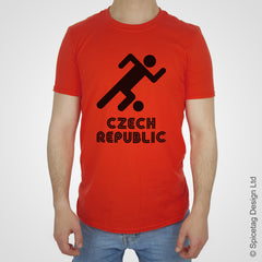 Czech Republic Retro Football T-shirt