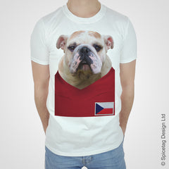 Czech Republic Football Bulldog T-shirt
