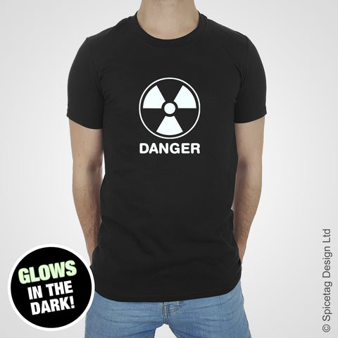 Danger radiation funny comedy drink hangover birthday party black T-shirt Tshirt T shirt Tee clothing clothes fashion style trend 1