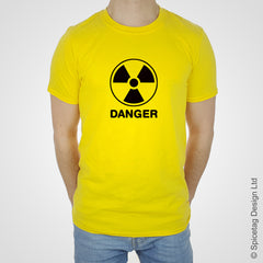 Danger radiation funny comedy drink hangover birthday party yellow T-shirt Tshirt T shirt Tee clothing clothes fashion style trend 1