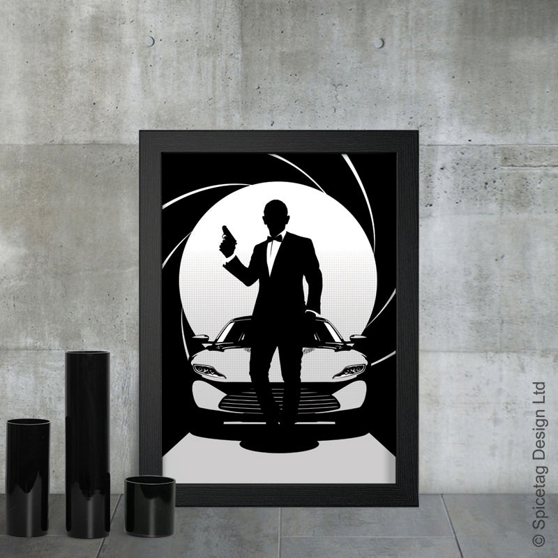 Daniel Craig james bond 007 movie film secret agent spy car cars aston martin db10 casino royale skyfall spectre art artwork picture photo spicetag