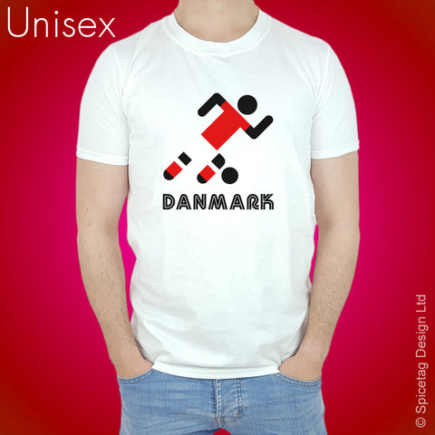 Denmark Retro Football T-shirt