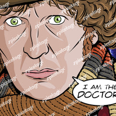 4th Doctor Square Print