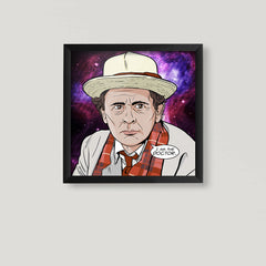 7th Doctor Square Print