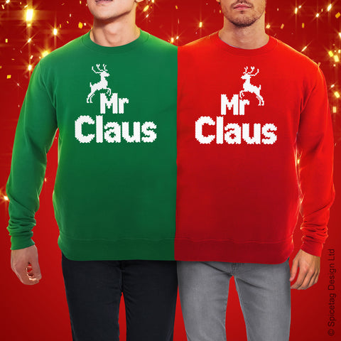 Mr And Mr Claus Double Christmas Jumper
