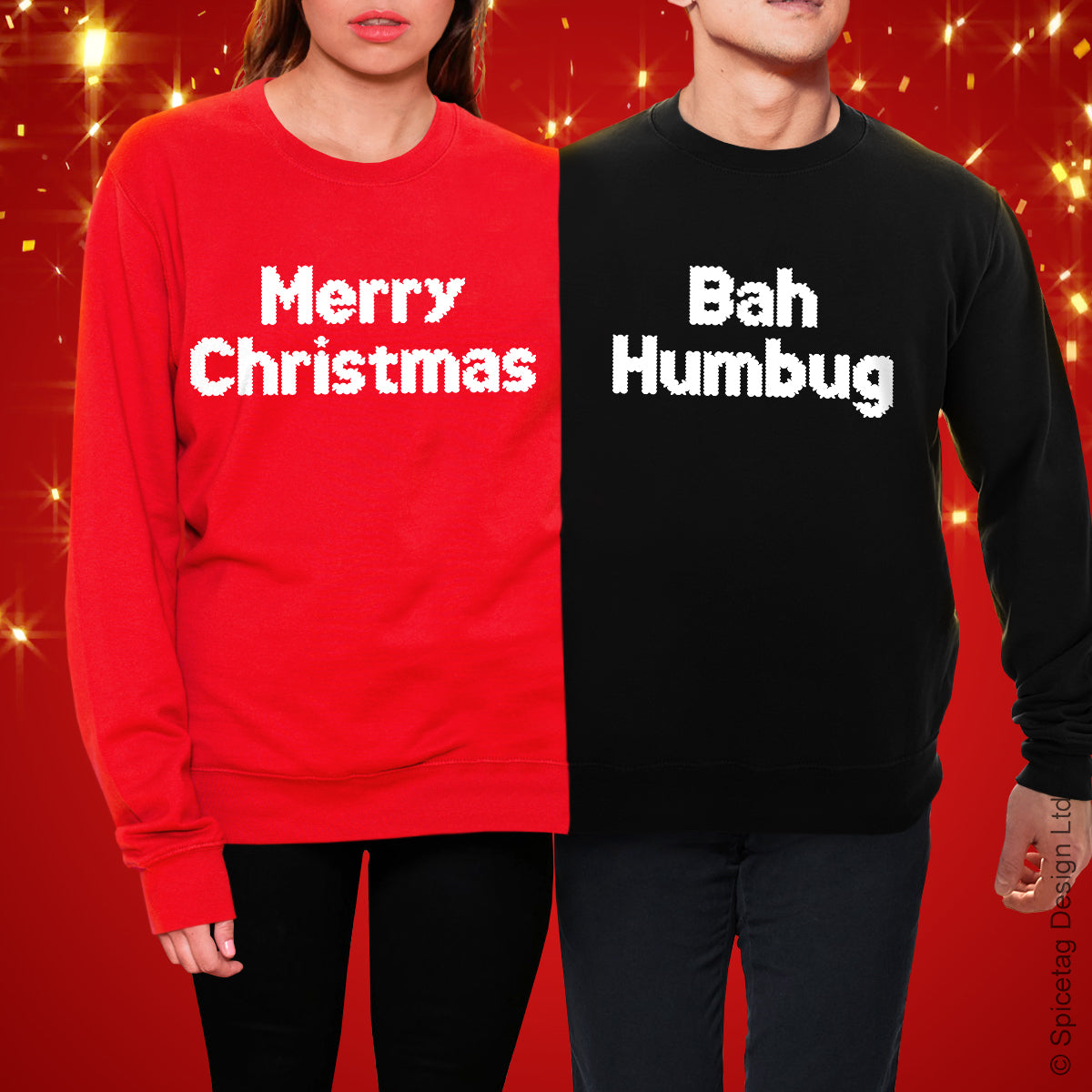 Merry Christmas Bah Humbug Double Christmas Jumper