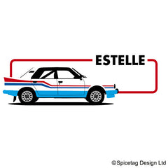 Estelle 80s Rally Car T-shirt