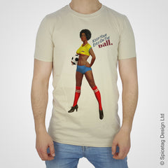 Ecuador ecuadorian pin up girl woman vintage football team soccer game T-shirt T shirt Tshirt Tee world cup retro stick man 70s 80s sport fashion style trend spicetag 1