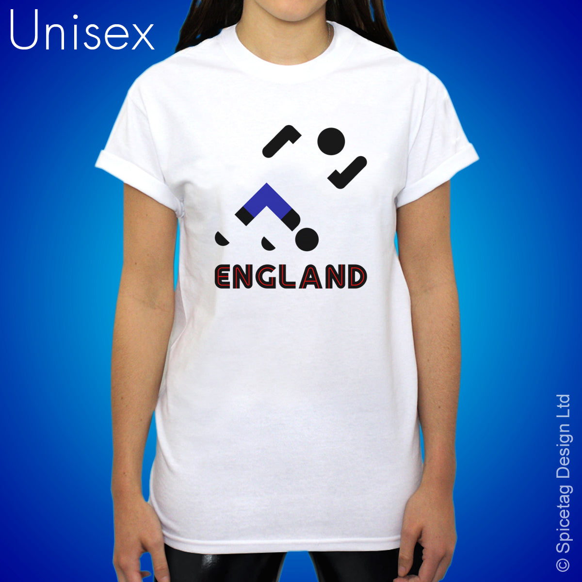 England Retro Football T-shirt