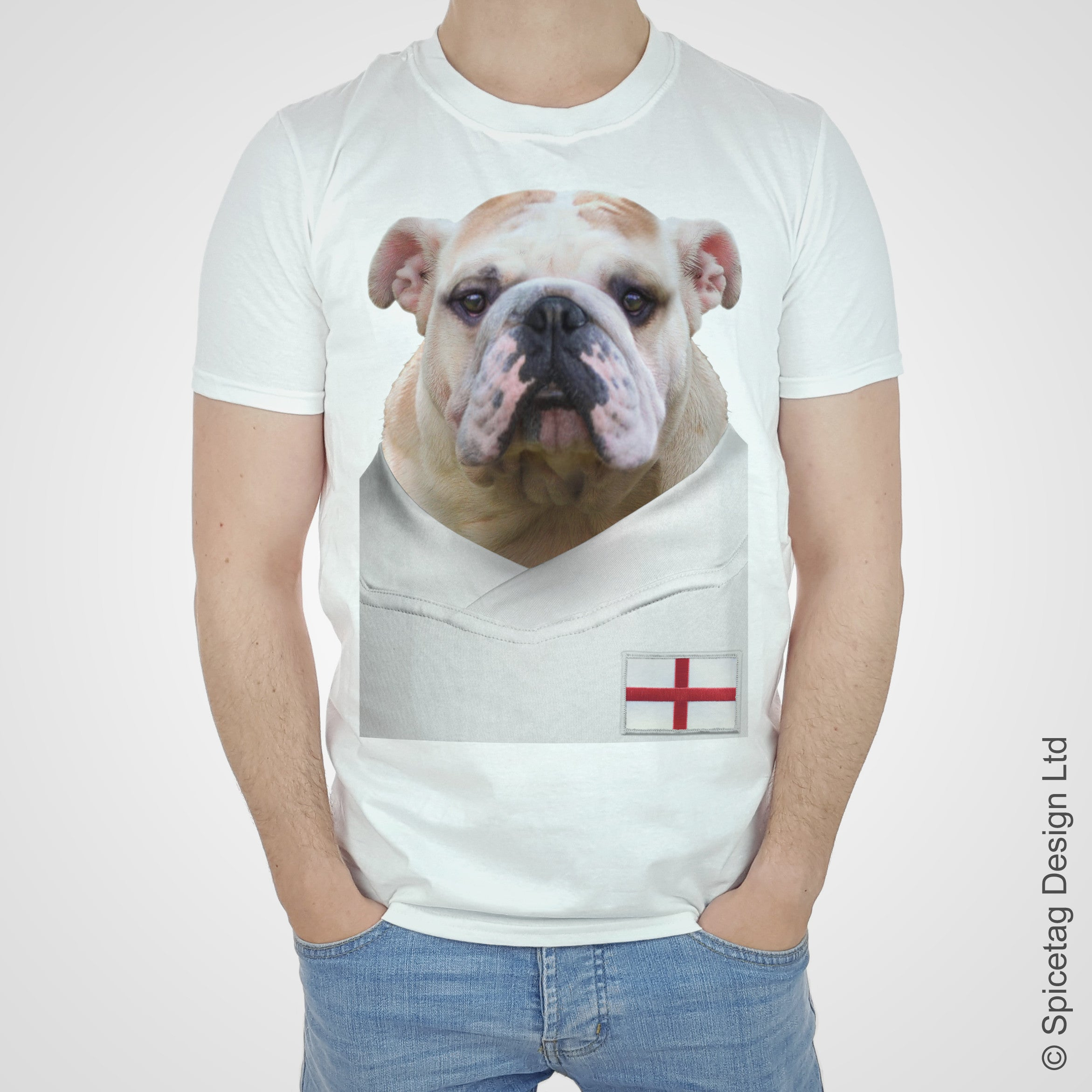 England Football Bulldog T-shirt