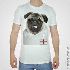 England Football Pug T-shirt