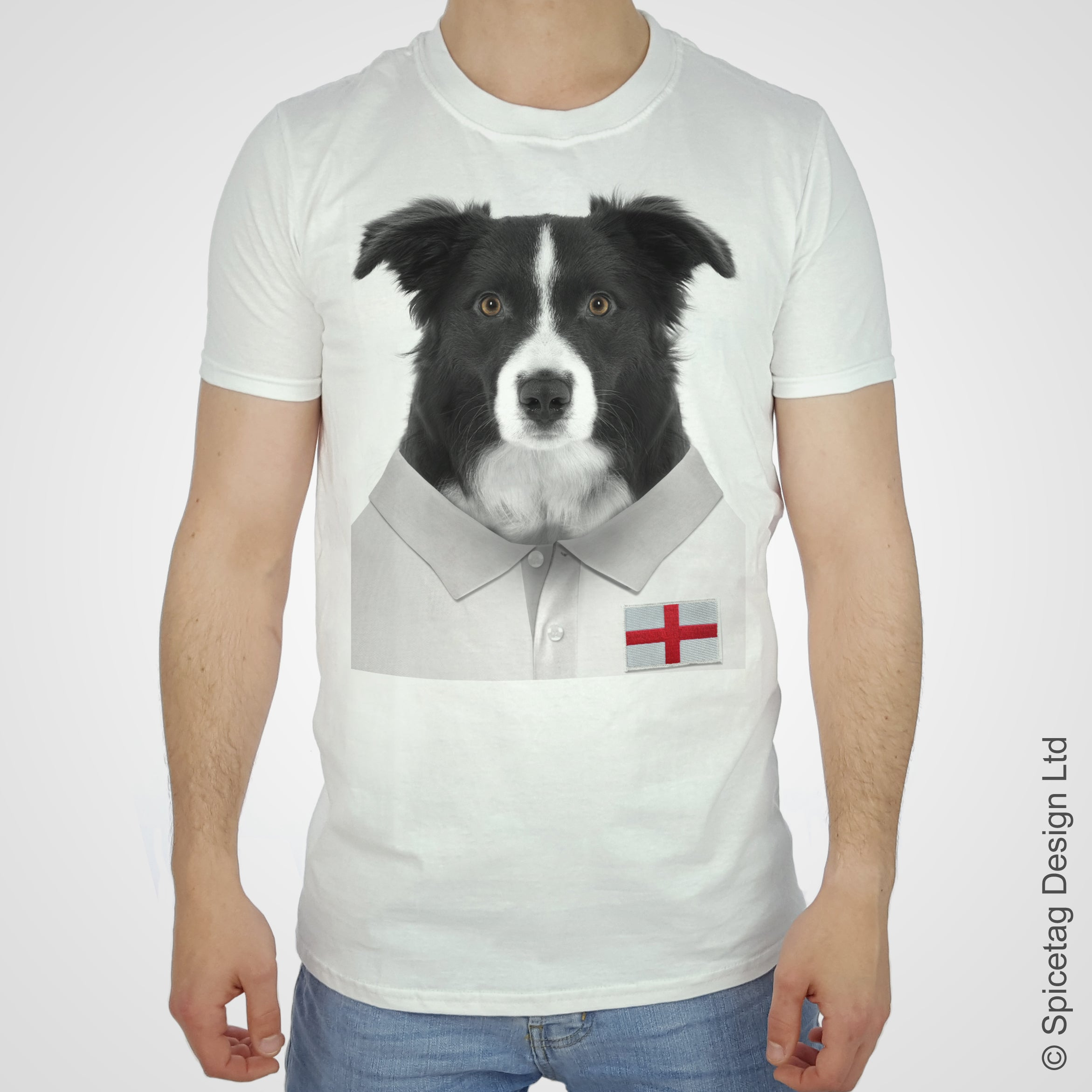 England Rugby Border Collie T-shirt