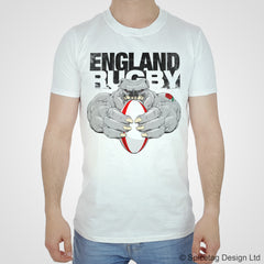 England english rugby bulldog dog dogs T-shirt T shirt Tshirt Tee lions world cup try sport fashion style trend spicetag six 6 nations 2