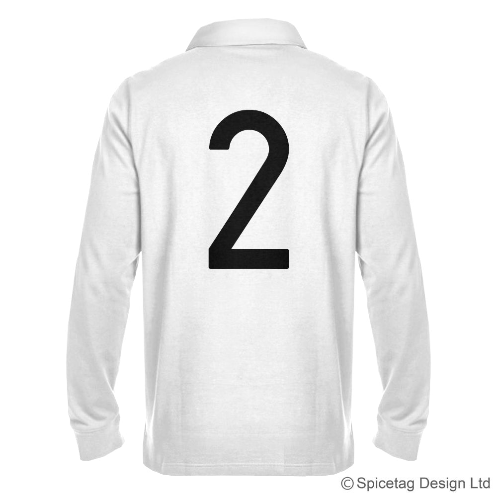 Retro White Rugby Number Jersey