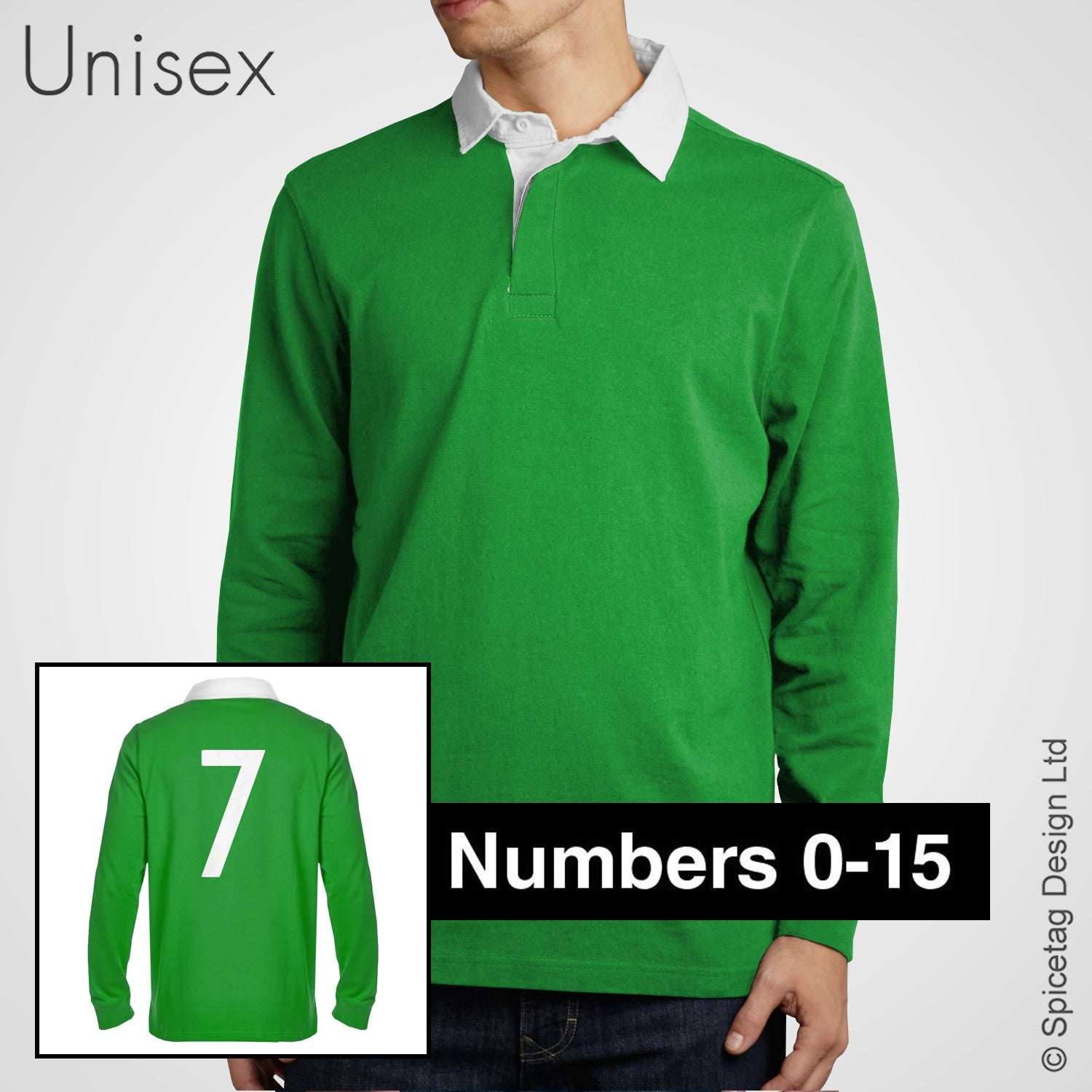 Retro Green Rugby Number Jersey