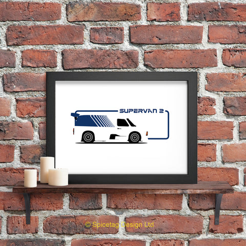 Ford transit supervan super van 2 sports car cars motor motors motorsport racing retro 80s 1980s