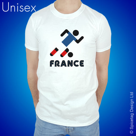 France Retro Football T-shirt