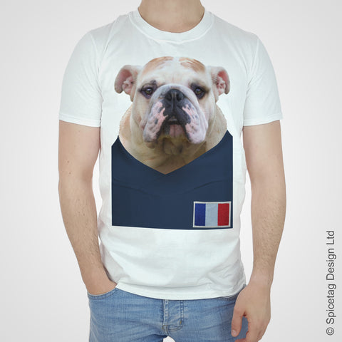 France Football Bulldog T-shirt