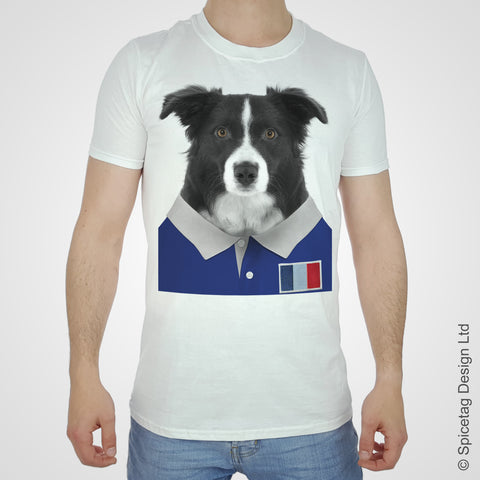 France Rugby Border Collie T-shirt