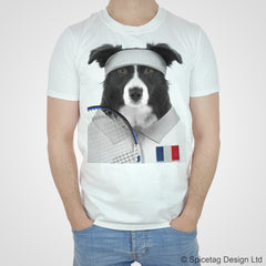France Tennis Collie T-shirt