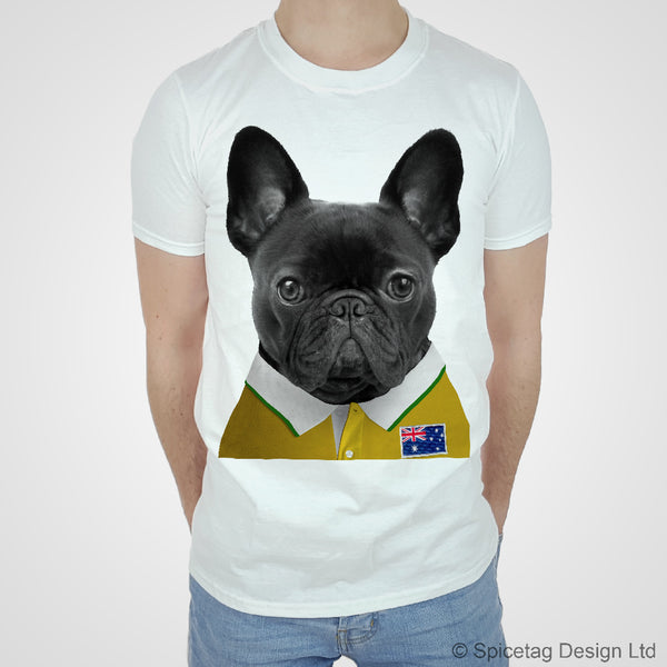 Rugby Shirt For Dog: Australia Rugby Frenchie T-shirt