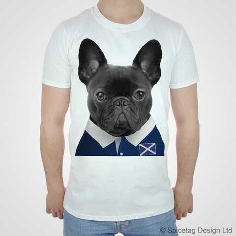 Scotland Rugby Frenchie T-shirt