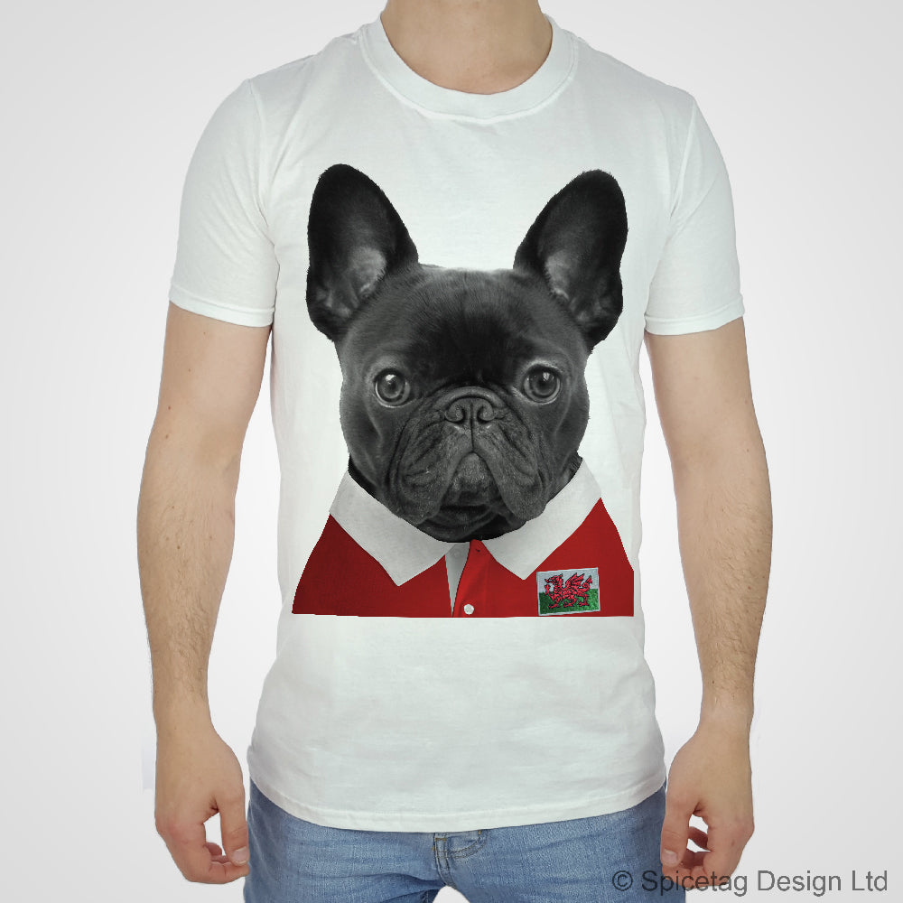 Wales Rugby Frenchie T-shirt